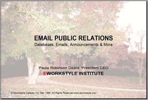 Email Public Relations slide